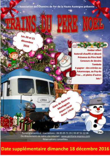 Trains du pere noel 2016 date supplementaire